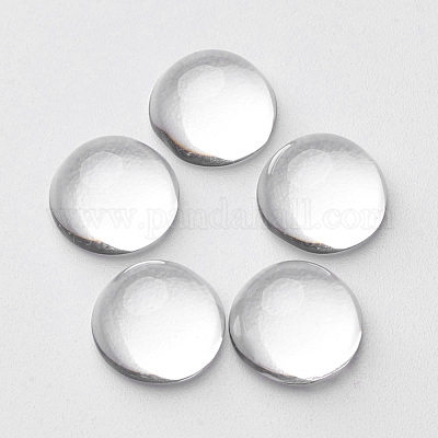 3-10pcs Clear Glass Cabochons Fit Settings Flat Back Round Jewellery 10-40mm
