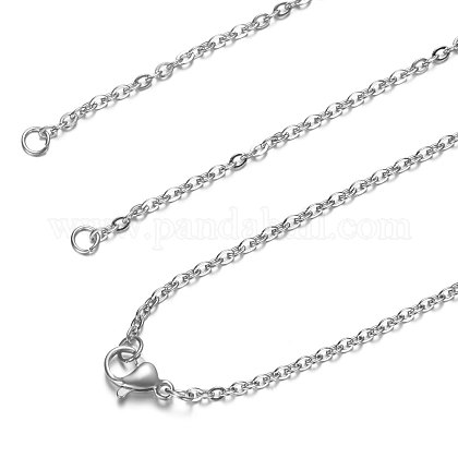 201 Stainless Steel Cable Chain Necklace MakingSTAS-T040-PJ209-1-36-1