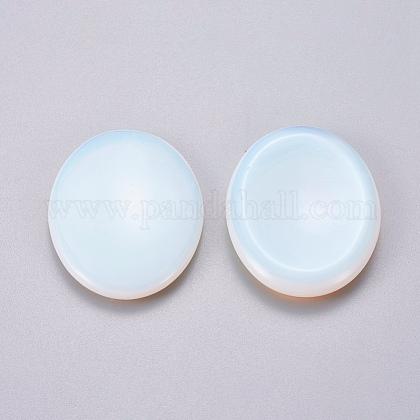 Oval Shape Opalite Thumb Worry StoneG-I219-06A-1