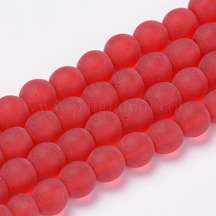 Chapelets de perles en verre transparente  GLAA-Q064-06-8mm-1