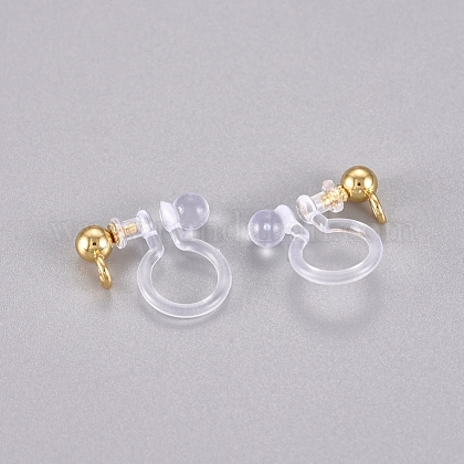 304 Stainless Steel and Plastic Clip-on Earring FindingsSTAS-G225-27G-1