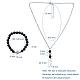 Pendant Necklaces and Stretch Bracelets SetsSJEW-JS01071-4