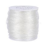 Elastic Crystal Thread, Stretch Bracelet String, Round, Clear, 0.8mm, 100m/roll