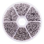 PandaHall Elite 1 Box 4/5/6/8/9/10mm Mixed 304 Stainless Steel Open Jump Rings Sets for Jewelry Making,about 1000 pcs In One Box