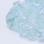Synthetic Aquamarine Bead Strands, Nuggets, LightCyan, 9~20x8~16x5~11mm, Hole: 0.5mm; about 53pcs/strand, 16