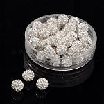 パヴェボールディスコビーズ, 樹脂粘土ラインストーンビーズ, グレードA, クリスタル, pp9(1.5mm); 1.6mm, 穴:6mm