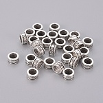 Tibetan Style Spacer Beads, Lead Free and Cadmium Free, Column, Antique Silver Color, Size: about 8mm in diameter, 4mm thick, hole: 5mm