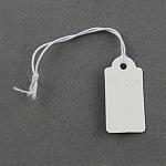 クラフト紙ペーパータグ値札タグ, 製品に接続することができます。, 長方形, ホワイト, 27x13x0.4mm