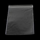 Sacs rectangulaires en PVC à fermeture à glissière, sacs d'emballage refermables, sac auto-scellant, bleu clair, 16x11 cm