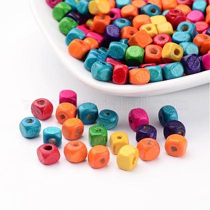 200 pcs perles sin de cube de bois de plomb mélangésX-YTB031-1