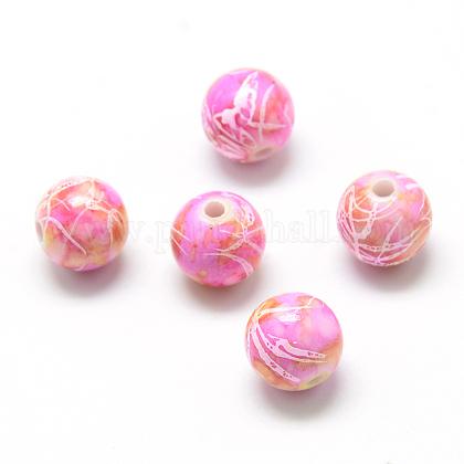 Perles acryliques drawbench peintes par pulvérisationACRP-S669-06-1