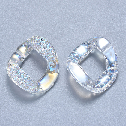 Configuración de rhinestone de anillos de unión de acrílico transparenteOACR-S036-009A-D01-1