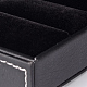 Cajas rectangulares anillo de imitación de cueroLBOX-F001-04-3