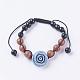 Fashion Cat Eye Jewelry Sets:Bracelets & RingsSJEW-JS00142-04-2