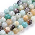 Natural Amazonite Beads, Round, 6mm
