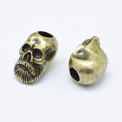 Antique Brass Skull Beads 5x7mm 24 Strand SKU-MB-101-AB