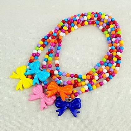 Fashion Acrylic Necklaces for KidsNJEW-JN00330-1