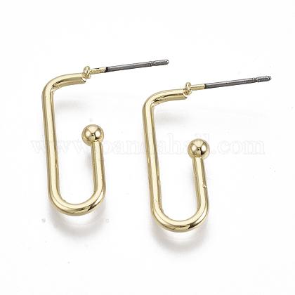 Iron Stud EarringsEJEW-N013-03-1