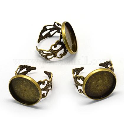 Ajustes de anillo de filigrana de hierro ajustableX-MAK-Q006-20-1