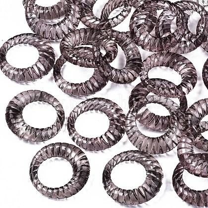 Anillos de dedo de acrílico transparenteRJEW-T010-05A-1