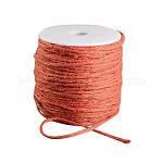 着色麻コード, 麻紐, 麻ひも, 3プライ, ジュエリー作りのための, オレンジレッド, 2ミリメートル; 100 M /ロール