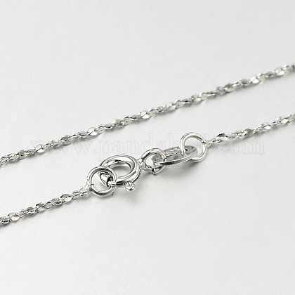 Trendy Sterling Silver Chain NecklacesSTER-M050-A-19-1