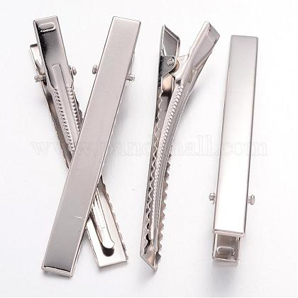 Iron Flat Alligator Hair Clip Findings IFIN-S286-77mm-1