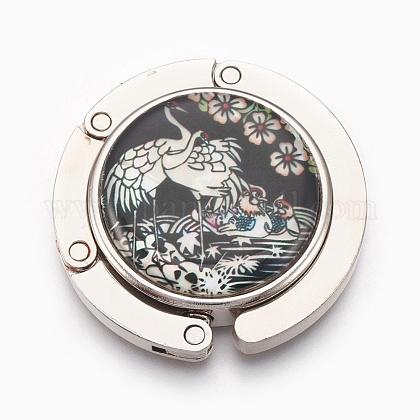 Gancho de la bolsa de aleación de zinc monedero ganchosBAGH-WH0001-A01-1