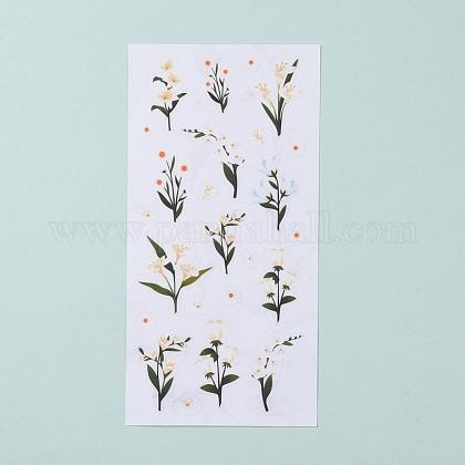 Pegatinas decorativas de flores de trompetaDIY-L030-03G-1