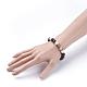 Natural Lava & Striped Agate/Banded Agate  Stretch BraceletsBJEW-JB03441-01-3