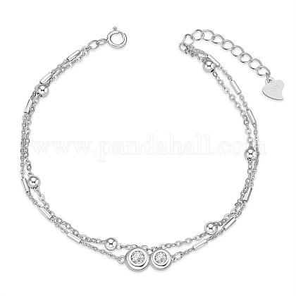 SHEGRACE® 925 Sterling Silver Multi-strand BraceletsJB558A-1