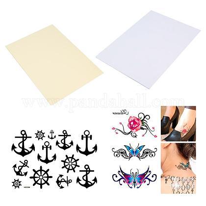 Benecreat 20 hojas (paquete de 10) diy a4 papel de transferencia de tatuaje temporal imprimible tatuajes de halloween personalizadosDIY-WH0010-10-1