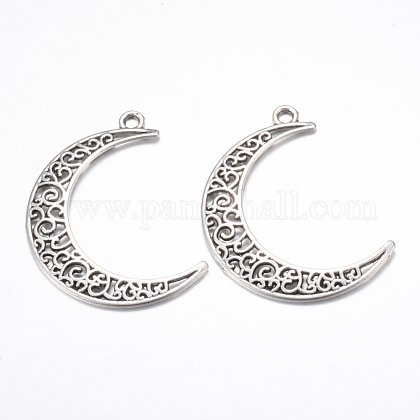 Tibetan Style Alloy Pendants TIBE-S299-029AS-RS-1