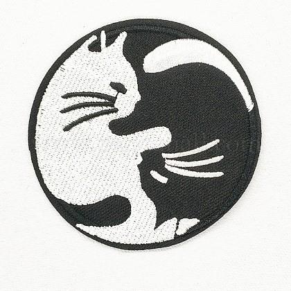 Tela de bordado computarizada para planchar / coser parchesDIY-O003-28-1