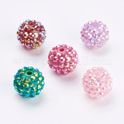 Abalorios de resina de Diamante de imitaciónFIND-P027-G-1