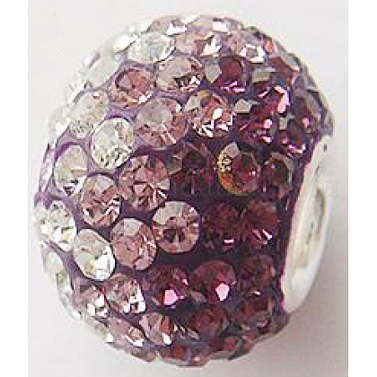 Austrian Crystal with Sterling Silver Single Core European BeadsCPDL-D001-3-1