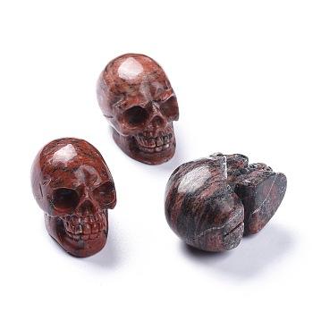 Украшения для дома из натуральных драгоценных камней на Хэллоуин, череп, 38~38.5x32~32.5x49~50 мм
