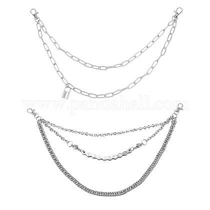 Cinturón de cadenas de aleaciónAJEW-CA0001-10P-1