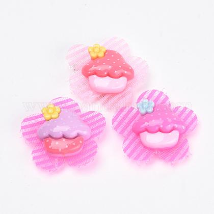 Flower Nylon Magic Tape Hair ClipsOHAR-S193-53-1