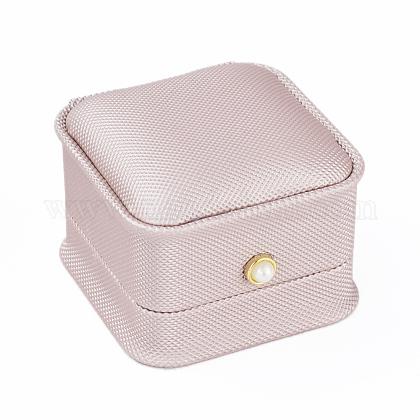 Cajas de regalo de anillo de cuero de puLBOX-L005-I01-1