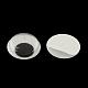 Черный и белый пластик покачиваться гугли глаза кнопки поделок скрапбукинга ремесла игрушка аксессуары с этикеткой пластификатор на спине, чёрные, 15x4 мм