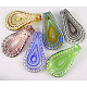 Handmade Silver Foil Glass Big Pendants X-SLSP82-1