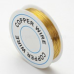 Copper Jewelry Wire, Gold, 0.3mm; about 25m/roll