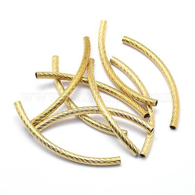 Brass tube beads Hole: 2mm unleaded and cadmium-free and nickel-free 10x3mm