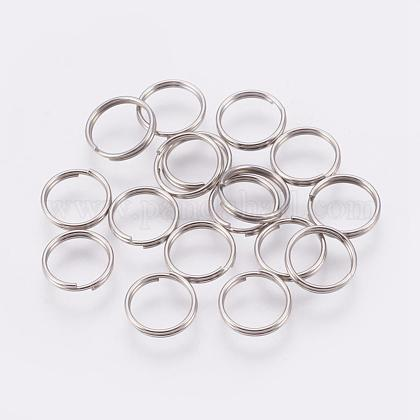 304 acero inoxidable anillos partidosSTAS-E010-8x0.6mm-2-1