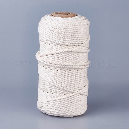 Cotton String Threads for Jewelry Making OCOR-WH0034-C-01-1