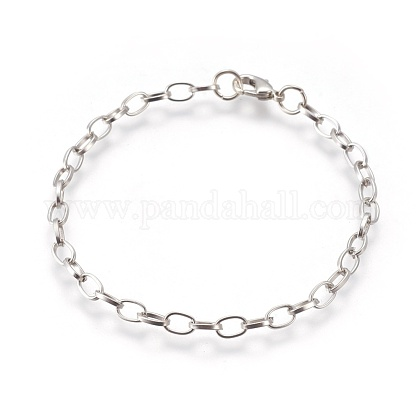 Iron Cable Chain Bracelet MakingX-IFIN-H031-P-1