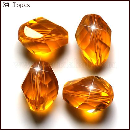 Imitation Austrian Crystal BeadsSWAR-F077-9x6mm-08-1