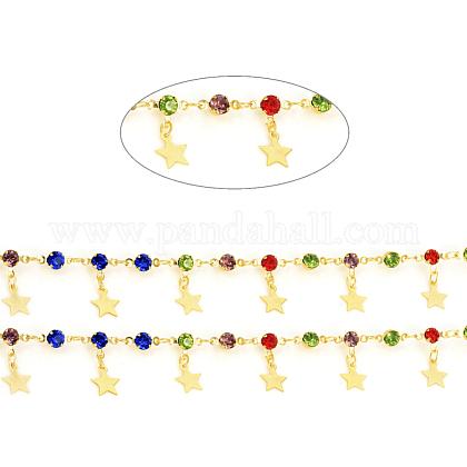 Cadenas de eslabones de latón hechos a manoCHC-F011-05-G-1