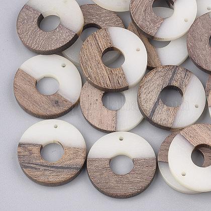 Colgantes de resina y madera de nogalRESI-S358-03A-1